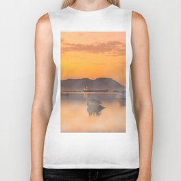Golden Sunrise Biker Tank
