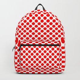 Circle Spot Red Polka Dot Pattern Backpack