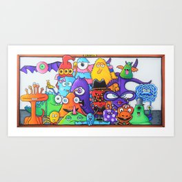 Family of Friends - Creatch Series Art Print