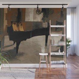 Grand Piano Artwork Wall Mural