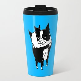 Boston Terrier Hugs Travel Mug