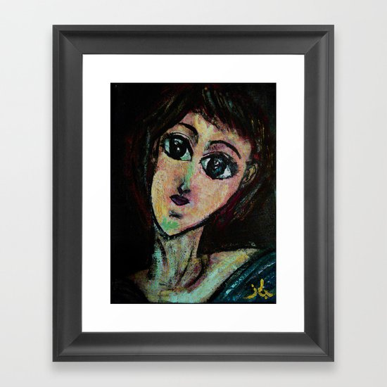 AWESOME GIRL Framed Art Print