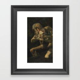 Saturn Devouring His Son - Goya Framed Art Print