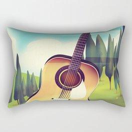Take it Easy guitar poster. Rectangular Pillow
