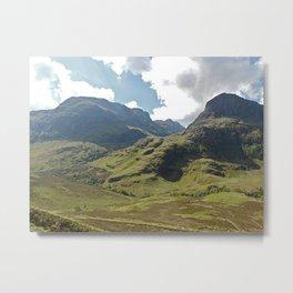Scotland Hills Metal Print