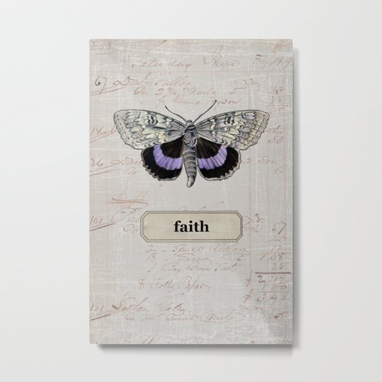 butterfly - faith Metal Print