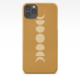 Minimal Moon Phases - Golden Orange iPhone Case