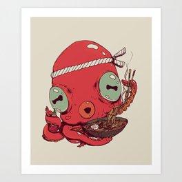 Spicy Ramen Art Print