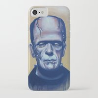 frankenstein iPhone & iPod Cases featuring frankenstein by FlacoGarcia