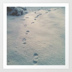 Snow Tracks Art Print