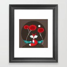 About a red fox Framed Art Print