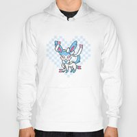 sylveon Hoodies featuring 8-Bit Shiny Sylveon (Textless) by einjello