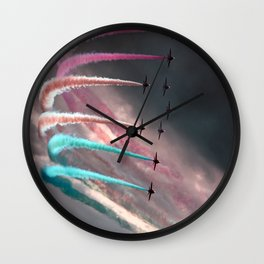 Colorful Smoke Wall Clock