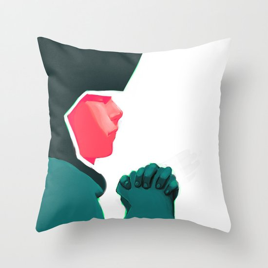 Untitled digital drawing Throw Pillow