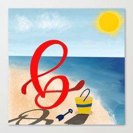 Baby B at the Beach Canvas Print