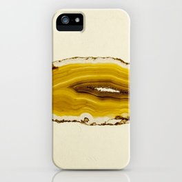 Agate - Yellow Slice iPhone Case