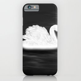 Illuminating Swan iPhone Case