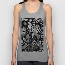 Surreal Wildlife / Black and White Unisex Tank Top