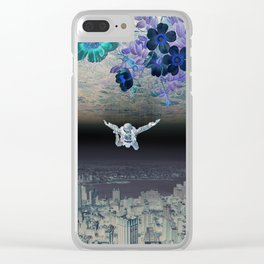 A Skydiver Between Two Parallel Universes Clear iPhone Case