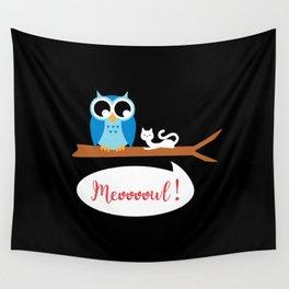 Meoooowl Wall Tapestry