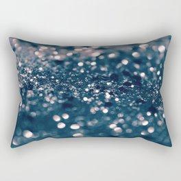 Blush Blue Lady Glitter #1 #shiny #decor #art #society6 Rectangular Pillow