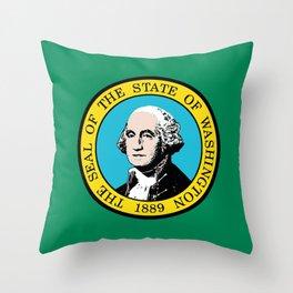 Flag of Washington State Throw Pillow