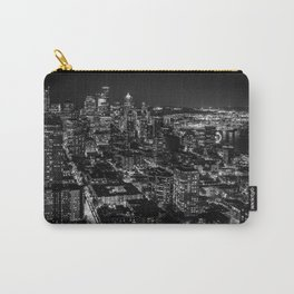 Seattle from the Space Needle in Black and White Carry-All Pouch