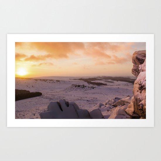 Hathersage Moor Sunrise Art Print