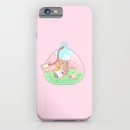 Bubu the Guinea pig, Cherry Blossom Terrarium iPhone Case