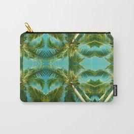 Palm Tree Kaleidoscope (on blue sky) #1 Carry-All Pouch