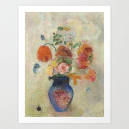 Large Vase with Flowers Art Print