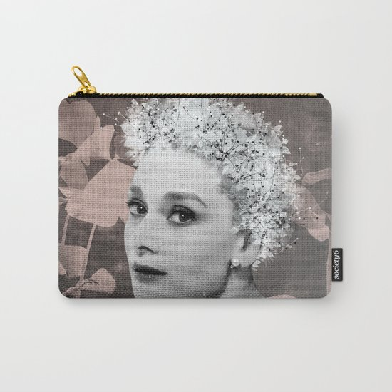 Audrey in White Carry-All Pouch