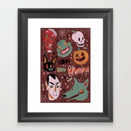 Let's Get Spooky! Framed Art Print