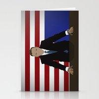 house of cards Stationery Cards featuring House Of Cards - Frank Underwood by Tom Storrer