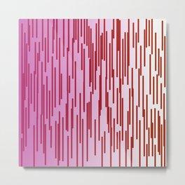 design lines sweet pinkdesign exotic wild lines Metal Print