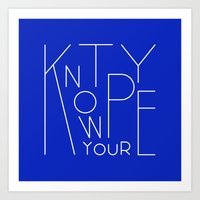 Know your type Art Print