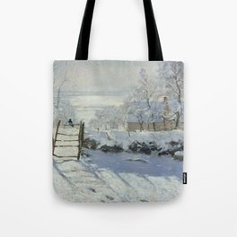 Monet, The Magpie (La Pie) (Die Elster) 1868-1869 Tote Bag