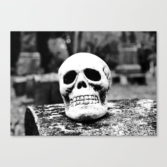 Graveyard horror Canvas Print