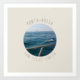 Punta Rossa - San Felice Circeo Art Print