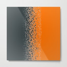Shredded ORANGE Metal Print