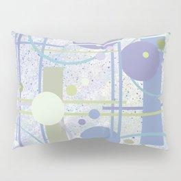 Mid Century Modern Abstract, Lilac, Purple, Green Pillow Sham