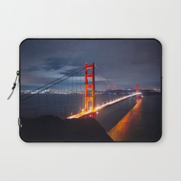 Golden Gate Bridge at Night | San Francisco, CA Laptop Sleeve