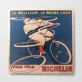 Vintage poster - Tire Advertisement Metal Print