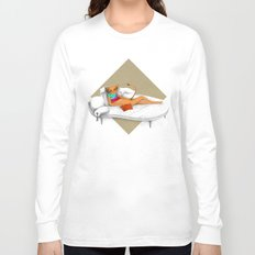 napping while reading Long Sleeve T-shirt