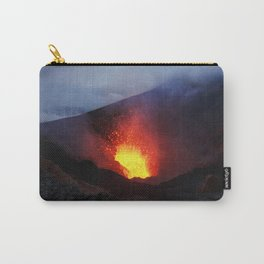 Scenery night eruption volcano on Kamchatka Peninsula Carry-All Pouch
