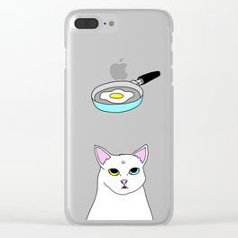 Fat D. Loves Fried Egg Clear iPhone Case