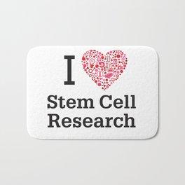I Heart Stem Cell Research Bath Mat