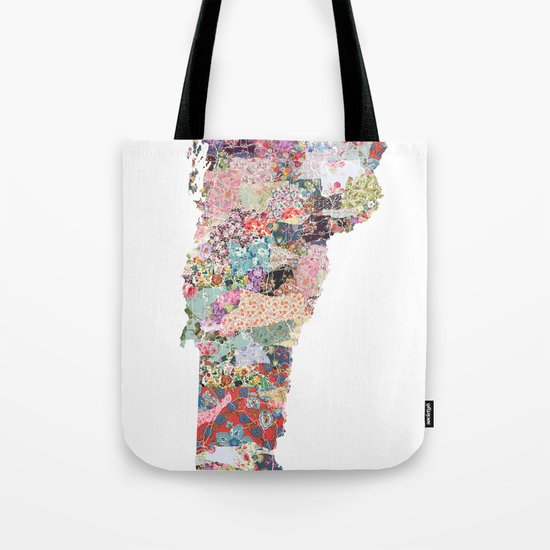 Vermont map Tote Bag