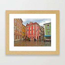 Apartments in Parin, Slovenia Framed Art Print