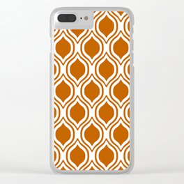 Texas longhorns orange and white university college texan football ogee Clear iPhone Case